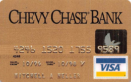Chevy Chase Bank Visa Credit Card Exp 10/98 - Credit Cards (Exp. Date Min. 10 Years)