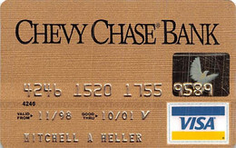 Chevy Chase Bank Visa Credit Card Exp 10/01 - Credit Cards (Exp. Date Min. 10 Years)