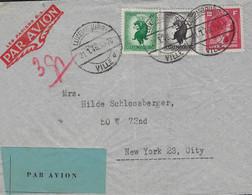Luxembourg - Luxemburg - Poste Aérienne 1946  Envoi  Luxemboiurg  -  New-York - Gebruikt