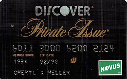 Discover Private Issue Credit Card Exp 02/98 - Credit Cards (Exp. Date Min. 10 Years)