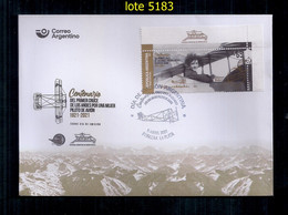 ARGENTINE 2021 Centenaire De La Première Traversée Des Andes Par Une Femme Pilote D'avion Le Premier Jour D'émission - FDC