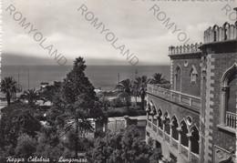 CARTOLINA  REGGIO CALABRIA,CALABRIA,LIDO,BAGNI,MARE,SOLE,ESTATE,LUNGOMARE,STORIA,MEMORIA,BELLA ITALIA,VIAGGIATA 1955 - Reggio Calabria