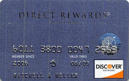 Discover Direct Rewards Platinum Issue Credit Card Exp 08/09 - Credit Cards (Exp. Date Min. 10 Years)