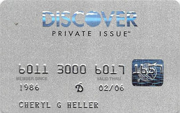 Discover Private Issue Credit Card Exp 02/06 - Credit Cards (Exp. Date Min. 10 Years)