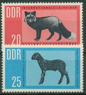 DDR 1963 Rauchwarenauktion Leipzig Felle Fuchs Schaf 945/46 Postfrisch - Neufs