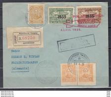Recommandée Brief Van Republica Del Paraguay Asuncion Naar Friedrichshafen (Duitsland) Por Graf Zeppelin - Paraguay
