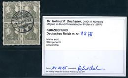 Deutsches Reich Michel Nummer 98 Gestempelt 4er-Block Geprüft - Nuovi