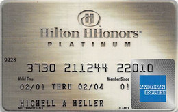 Hilton HHonors Platinum American Express Credit Card Exp 02/04 - Credit Cards (Exp. Date Min. 10 Years)
