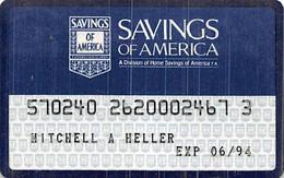 Savings Of America Credit Card Exp 06/94 - Credit Cards (Exp. Date Min. 10 Years)