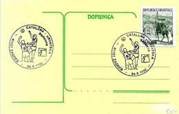 CROAZIA - 1992 ZAGREB Olimpiadi Di Barcellona Partita Di Basket Spagna-Croazia A Badalona - 4170 - Verano 1992: Barcelona