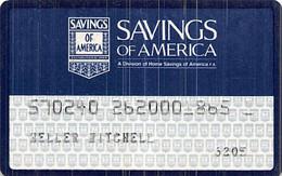 Savings Of America Credit Card - Credit Cards (Exp. Date Min. 10 Years)