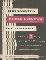 Standard Dictionary Of The English Language (international Edition) With Britannica World Language Dictionary Volume Two - Dictionaries, Thesauri