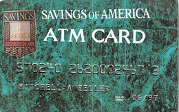 Savings Of America ATM Card Exo 06/97 - Credit Cards (Exp. Date Min. 10 Years)
