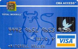 Merrill Lynch Total Merrill CMA Access Visa Credit Card Exp 05/10 - Credit Cards (Exp. Date Min. 10 Years)