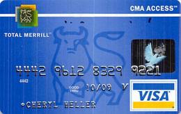 Merrill Lynch Total Merrill CMA Access Visa Credit Card Exp 10/09 - Credit Cards (Exp. Date Min. 10 Years)