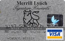 Merrill Lynch Signature Rewards Visa Credit Card Exp 05/10 - Credit Cards (Exp. Date Min. 10 Years)