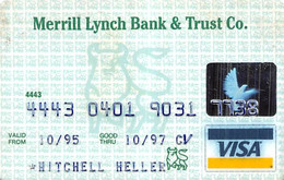 Merrill Lynch Bank & Trust Co. Visa Credit Card Exp 10/97 - Credit Cards (Exp. Date Min. 10 Years)