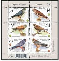 Belarus 2021 Falcons Of Belarus. Birds Raptor Block Weißrussland - Adler & Greifvögel