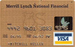 Merrill Lynch National Financial Visa Credit Card Exp 04/97 - Credit Cards (Exp. Date Min. 10 Years)