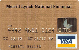 Merrill Lynch National Financial Visa Credit Card Exp 02/97 - Credit Cards (Exp. Date Min. 10 Years)