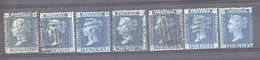 0gb  0084 -  GB  :  Yv  27  (o)  Planches   7-15  Complet - Used Stamps