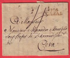 MARQUE CONQUIS 106 CAZAL ITALIE ITALIA POUR CEVA 1809 - 1792-1815: Départements Conquis