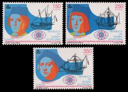 Äquatorial-Guinea 1991 - Mi-Nr. 1738-1740 ** - MNH - Schiffe / Ships - Guinea Equatoriale