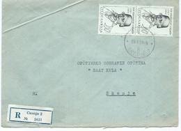 Yugoslavia R - Letter 1964 Skopje.stamps 1963 Personalities,Vuk Karadzic,Serbia - Lettres & Documents