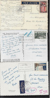 FRANCE, 3 POSTCARDS,  MAILED TO GREECE - Covers & Documents