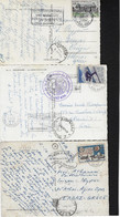 FRANCE, 3 POSTCARDS,  MAILED TO GREECE, ONE TO AGHION OROS(ARRIVAL KARYAI) - Covers & Documents