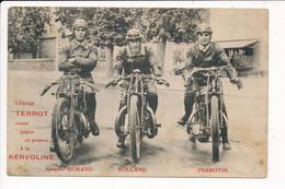"Carte SPORT MOTO COURSE ÉQUIPE TERROT "" JACQUES DURAND,ROLLAND,PERROTIN "" ( Pub Kervoline ) - Sport Moto"