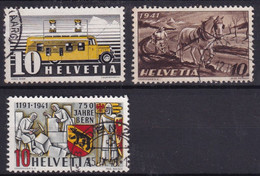 Suisse YT° 367 + 302 + 370 - Used Stamps