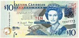 East Caribbean - 10 Dollars - ND ( 2012 ) - P 52.a - Unc. - Serie FS - Eastern Caribbean Central Bank - East Carribeans