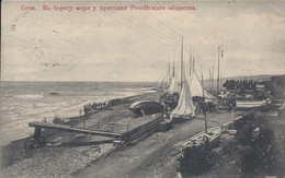 + Russia SOCHI Pier Of The Russian Society Sailboats C. 1915 + - Russie