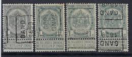 Rijkswapen Nr. 53 Voorafgestempeld Nr. 216 A + B + C + D  GAND 1899 In Goede Staat , Zie Ook Scan ! - Rolstempels 1894-99