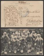 Carte Postale - 3. Souvenir Du Carnaval De Binche : Petits Gilles / Cachet Bataillon Allemand (Armee Korps) - Binche