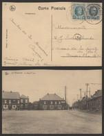 Carte Postale - La Bouverie : La Grand'place (Nels) / Voyagée. Léger Défaut : Mal Coupé Coté Supérieur - Frameries