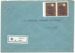 "Yugoslavia R - Letter 1964 Skopje.stamps 1963 ""Centuries Of Yugoslavian Art"" - Lettres & Documents"
