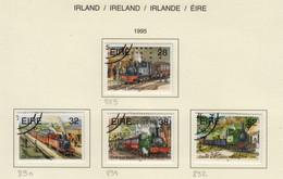 Irlande O N° Yv 889, 890, 891, 892; Mi 886, 887, 888, 889; SG 941, 942, 943, 944; Train, Locomotive. - Used Stamps
