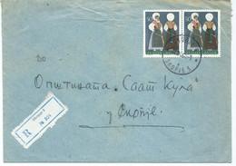 Yugoslavia R - Letter 1964 Skopje.stamps 1964 Folklore Costumes - Slovenia Girls - Lettres & Documents