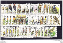 BELGIQUE, 51 VALEURS TOUS LES PREOS BUZIN ** INCLUS TOUTES LES GOMMES ET PAPIERS .  ( 4R41a) - Tipo 1986-..(Uccelli)