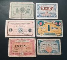 Lot De 6 Billets De La Chambre De Commerce - Chambre De Commerce