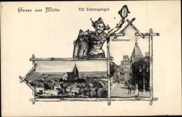Passepartout CPA Mölln Im Herzogtum Lauenburg, Teilansicht Mit Kirche, Markstraße, Eulenspiegel - Other