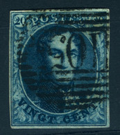 Belgique N° 7 - 1851-1857 Medaillons (6/8)