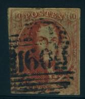 Belgique N°12 - 1858-1862 Medaillons (9/12)