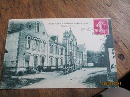 Argentan Gare Orne Griffe Marque Lineaire Obliteration De Fortune - 1921-1960: Période Moderne