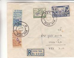 Israël - Périoede Intérimaire - Lettre Recom De 1948 ° - Oblit Petah Tiqva - Rare - Cartas