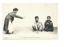 Indochine Vietnam TONKIN Enfants Jouant Aux Sapèques TB 2 Scans - Vietnam