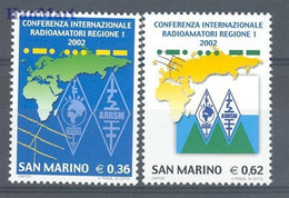 San Marino 2002 Mi 2030-2031 MNH  (ZE2 SMR2030-2031) - Stamps