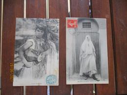 Lot 2 Carte Femme Algerie Mauresque De Blida Et Femme Mauresque - Femmes